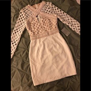 NWT Missguided Cross Lace Cutout Bodycon Dress